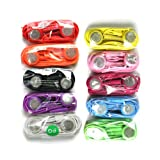 Pack of Ten Colorful Earphones Headphones Headset with Mic In-ear for Iphone 4s 4 3gs Ipod Touch