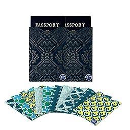 I3C Anti-Theft RFID Blocking Credit Card & Passport Holder Protector Sleeves (10 RFID Credit Card Sleeves, 2 RFID Passport Sleeves)