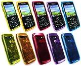 Emartbuy® Blackberry 9100 / 9105 Pearl 3G Bundle Pack of 5 Floral Gel Skin Cover - Floral Yellow, Floral Pink, Floral Purple, Floral Blue & Floral Orange
