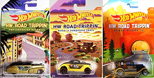Hot Wheels Road Trippin' 2015 Exclusive Series cars '32 Ford Sedan delivery '47 Chevy Fleetline, Neet Streeter New Mexico Dixie Forest Pan American (Pontiac Sedan Delivery compare prices)
