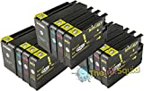 The Ink Squid Compatible Ink Cartridges. Replacement for HP 950 & HP 951 Regular/XL (3 x Black, 3 x Cyan, 3 x Magenta, 3 x Yellow). Compatible with HP Officejet Pro 251dw 276dw 8100e 8100 8600 Plus all-in-one 8600 Premium 8600 8600e All-in-One 8600 Plus