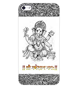 ColourCraft Lord Ganesha Design Back Case Cover for APPLE IPHONE 4