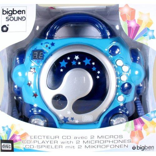 bigben cd47 au314816 lecteur cd avec 2 microphones usb bleu accessories studio live buy. Black Bedroom Furniture Sets. Home Design Ideas