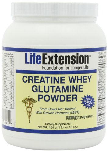 Life Extension créatine Whey Glutamine, vanille,