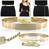Belt Metal Gold High Quality Waistband with Chain