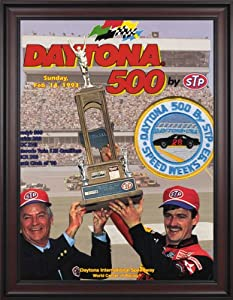 NASCAR Framed 36 x 48 Daytona 500 Program Print Race Year: 35th Annual - 1993 by Mounted Memories