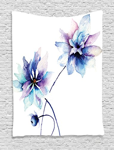 watercolor-flower-decor-tapestry-wall-hanging-by-ambesonne-elegant-flower-drawing-with-soft-spring-c