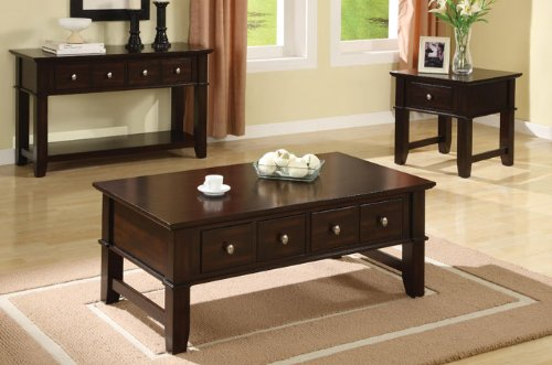 Cheap Poundex Console Sofa Table With Storage Drawers in Espresso Finish by Poundex (F6192)