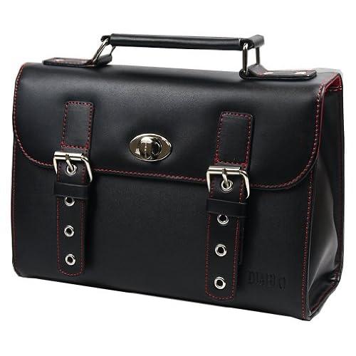DIABLO セカンドバッグ(ビジネスバッグ) メンズ 牛革 KA-2092 【ブラック×レッド】 [ウェア&シューズ]