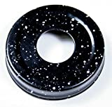 Package of 12 - Black Speckled Metal Small Mouth Canning Jar Lids with 1-1/16