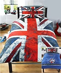 rock londres london union jack parure de lit housse de couette 140 x 200 cm. Black Bedroom Furniture Sets. Home Design Ideas