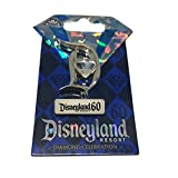 ディズニー おもちゃ ホビー Disneyland 60th Diamond Anniversary Diamond in center D Disney Trading Pin [並行輸入品]