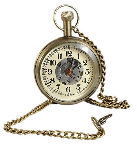 Numrique-laiton-mtal-montre-de-poche-mcanique-dessin-de-la-face-ouverte-pour-hommes-femmes-vintages-46-cm
