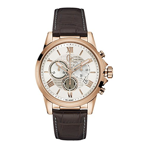 Guess Collection X76007G1S White Dial Stainless Chrono Men's