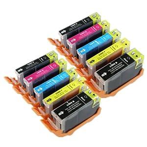 Canon PGI5 CLI-8 Compatible Ink Cartridges for Canon Pixma Printer, 10 Pcs Multipack: 2x PGI-5 Black, 2x CLI-8 Black, 2x CLI-8 Cyan, 2x CLI8-Magenta and 2x CLI8-Yellow