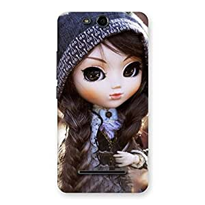 Special Cute Beautiful Doll Back Case Cover for Micromax Canvas Juice 3 Q392