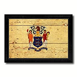 New Jersey State Vintage Flag Art Collection Western Shabby Cottage Chic Interior Design Office Wall Home Decor Gift Ideas, 27\