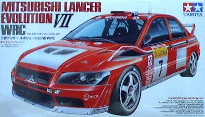 Mitsubishi Lancer Evolution VII WRC Model Car 1/24 Tamiya