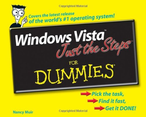 Windows Vista Just the Steps For Dummies