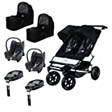 Mountain Buggy Duet Twin Travel System Bundle with Familyfix Bases