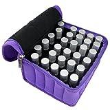 Jmkcoz 30 Bottles Essential Oil Carrying Case Shockproof Portable Essential Oils Travel Bag Suitable for 5ml,10ml,15ml Bottles Purple