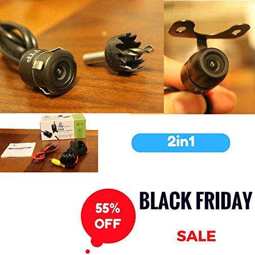 TopTierPro 2-in-1 Car Rear/Front View Backup Camera - Best For Trucks & Cars - Waterproof - Black Friday Sale! (Ford F150 Tailgate Top compare prices)