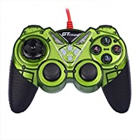 Dual Shock Wired USB Gamepad Controller For PC With Gripped Joysticks Ergonomic Design Vibration Force Feedback... - B00S879EPY