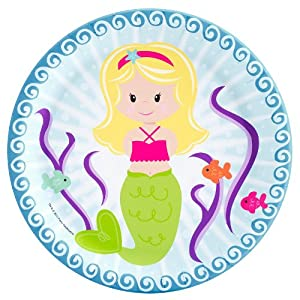 Mermaids Dinner Plates (8 count) Party Accessory by BirthdayExpress