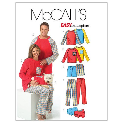 mccalls-patterns-m5282-misses-mens-teen-boys-tops-shorts-pants-and-dogs-top-size-z-lrg-xlg-by-mccall