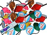 Set of 20 Zanies Faux Fur Rainbow Mice and Cat Laser Pointer Toy