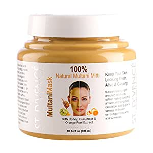 ST. D'VENCÉ Multani Mask Face Pack with Honey, Cucumber and Orange Peel Extracts, 300ml