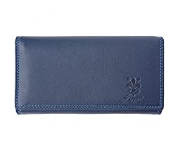 LaGaksta Italian Soft Leather Continental Wallet/Blue