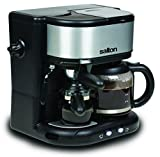 Salton EX1222 3 in 1 Coffee Centre, Black Stainless Steel/Silver