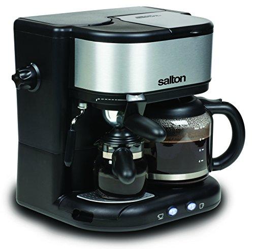 Salton EX1222 3 in 1 Coffee Centre, Black Stainless Steel/Silver Espresso Machine Reviews