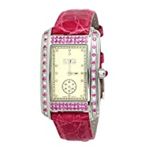 Effy Wall Street Diamond/Pink Sapphire 1.75 Tcw. Mother-of-Pearl Dial Ladies Watch #Z00Z268DPS