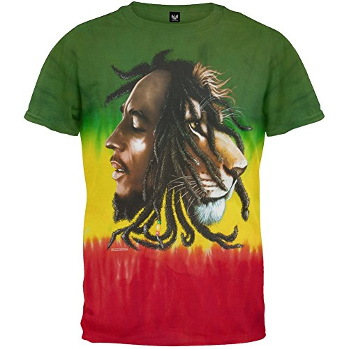 Bob Marley - Profiles Tie-Dye T-Shirt - Large (Tie Dye Shirt Marley compare prices)