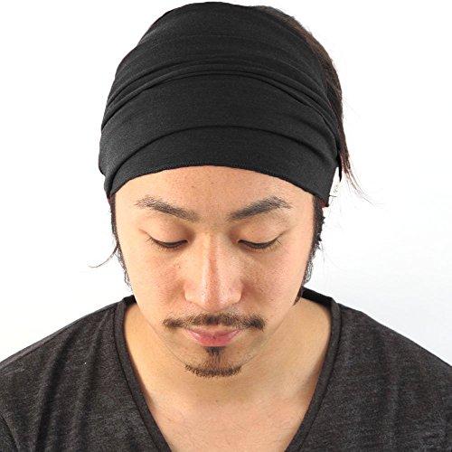 casualbox-mens-elastic-bandana-headband-japanese-long-hair-dreads-head-wrap-black