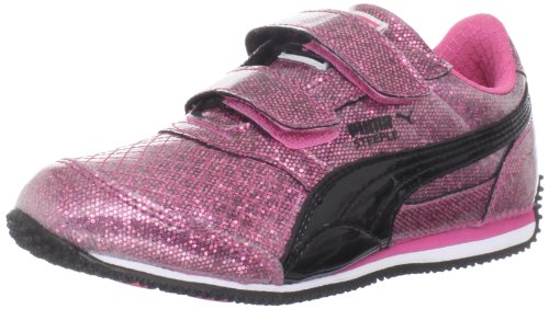 Puma Steeple Glitz Sneaker (Toddler/Little Kid/Big Kid),Hot Pink/Black,9 M US Toddler