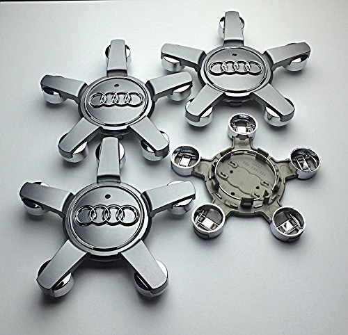juego-de-4-gris-audi-5-star-150-mm-llantas-de-aleacion-centro-centro-caps-4l0601165-d