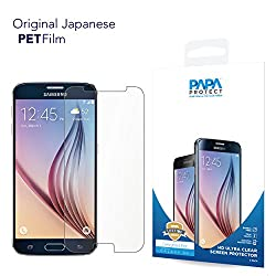 Samsung Galaxy S6 Papa Protect HD Clear Screen Protector | Pack of 3 Film Protectors | Original Japanese PET Film | True Touch | Perfect Fit | Scratch Protection | Unmatched Clarity | Bubble Free Application | Lifetime Warranty
