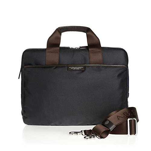 A.g. Spalding & Bros. Cartella 2 Zip Easy Business Spalding Blu Con Finiture Testa Di Moro 41x12x30cm
