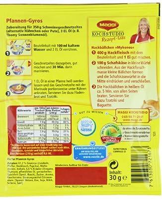 Maggi Fix für Pfannen -Gyros, 27 er Pack (27 x 30 g) von Maggi auf Gewürze Shop