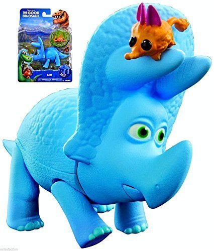 Disney-Pixar-The-Good-Dinosaur-Sam-Poseable-Figure-With-Collectable-Critter-NIP-2015-by-TOMY