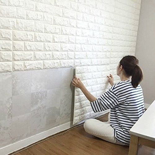 [Brick Stick on Self-Adhesive Home Vinyl Art Wall Sticker Decal Panels Decor 12