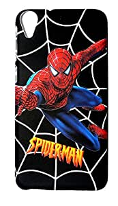 DRaX® HTC Desire 826 Printed Hard Back Case Cover 3D Touch Feel - SPIDERMAN