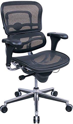 High Back Ergonomic Chair in Mesh Black Mesh/Chrome Frame