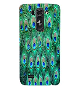 ColourCraft Peacock Feathers Design Back Case Cover for LG G3 BEAT