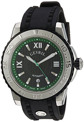 Gevril-Mens-3111-Seacloud-Analog-Display-Automatic-Self-Wind-Black-Watch