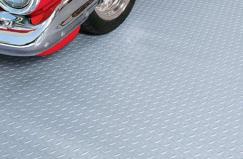 IncStores Commercial Grade Diamond Pattern Garage Flooring Rolls 9ftx60ft Slate Gray