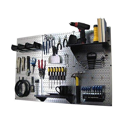 Wall Control Pegboard Standard Tool Storage Kit, Metallic/Black (Wall Control Board compare prices)